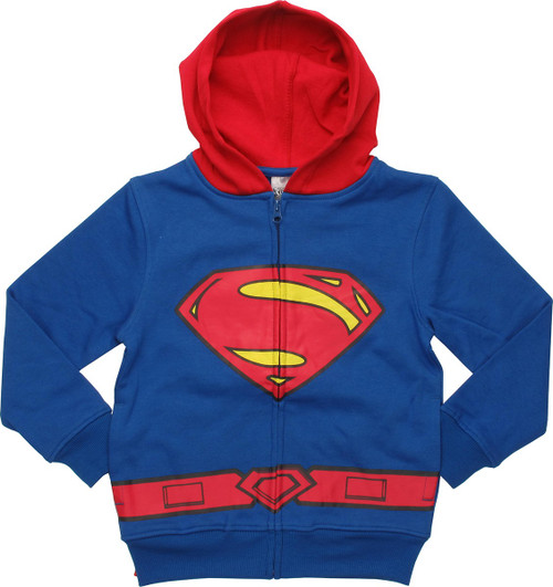 Superman Costume Caped Juvenile Hoodie