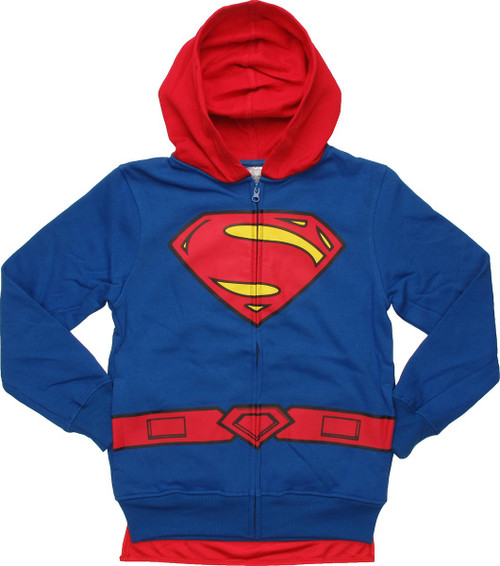 Superman Costume Caped Youth Hoodie