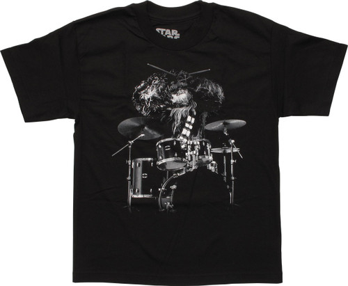 Star Wars Chewbacca Drums Youth T-Shirt