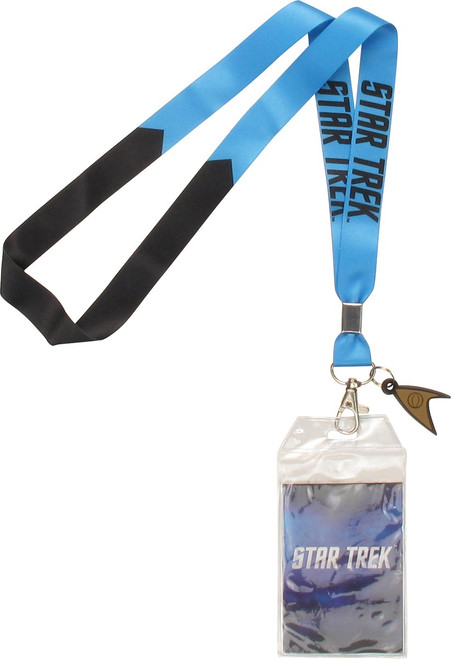 Star Trek TOS Blue Science Charm Lanyard