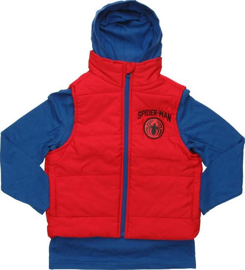Spiderman Hooded Shirt Sleeveless Juvenile Jacket