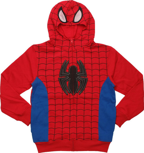 Spiderman Costume Mask Youth Hoodie
