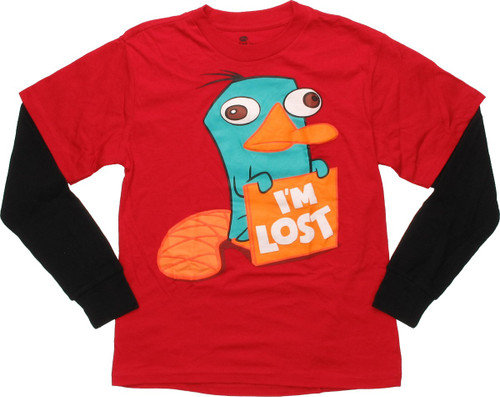Phineas and Ferb Im Lost Long Sleeve Youth T-Shirt