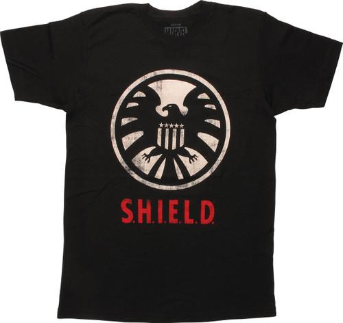 Marvel SHIELD Distressed Logo T-Shirt
