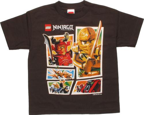 Lego Ninjago Good Vs Evil Boxes Youth T-Shirt