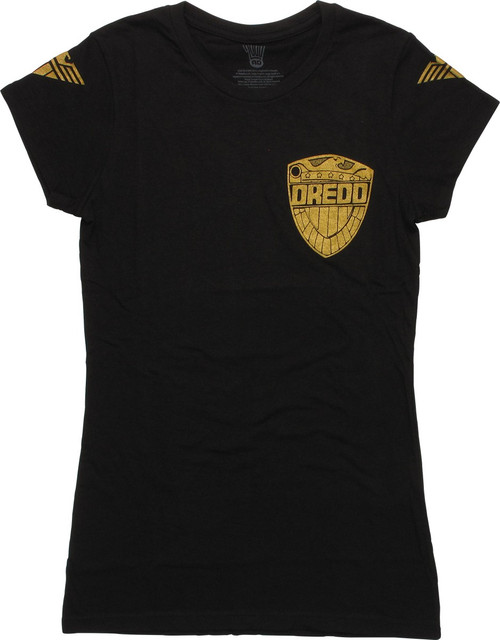 Judge Dredd Chest Badge Juniors T-Shirt