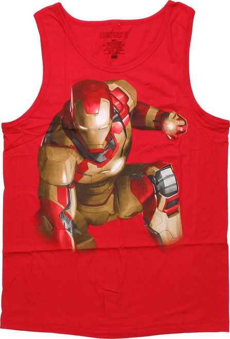 Iron Man Crouching Glow in the Dark Tank Top