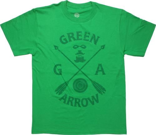 Green Arrow Icons Arrow Cross T-Shirt