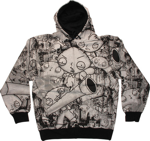 Family Guy Stewie Collage Zip Hoodie