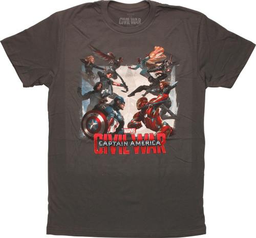 Captain America Civil War Clash T-Shirt