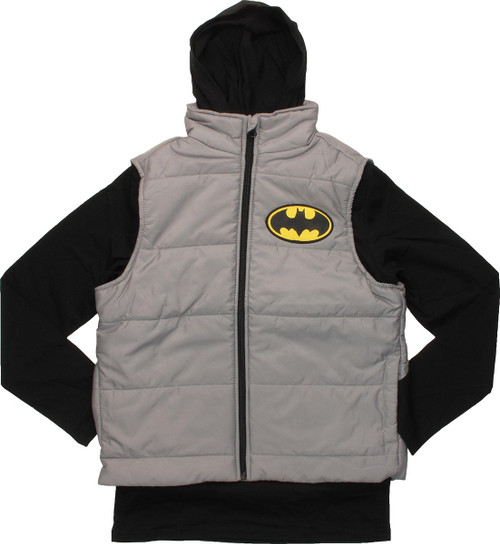 Batman Hooded Shirt and Sleeveless Youth Jacket