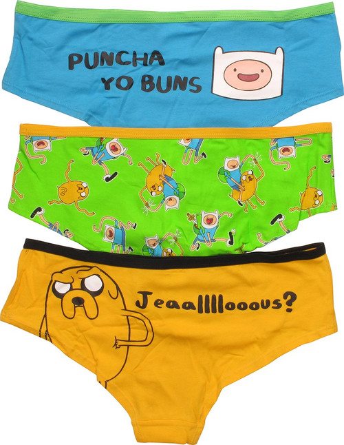 Adventure Time Finn Jake 3 Pack Panty Set