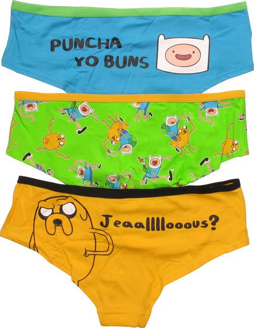 Adventure Time Finn Jake 3 Pack Panty Set