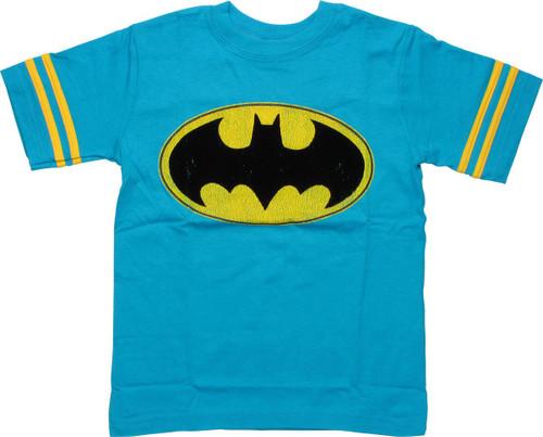 Batman Felt Bat Logo Juvenile T-Shirt