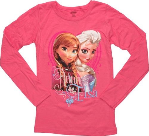 Frozen Names Glitter Long Sleeve Juvenile T-Shirt