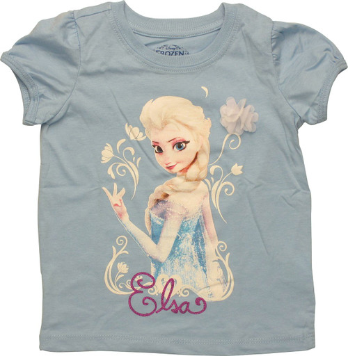 Frozen Elsa Flower Puff Toddler T-Shirt