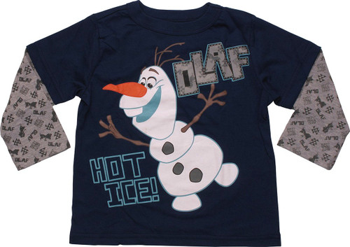 73f20451 Frozen Olaf Hot Ice Long Sleeve Toddler T-Shirt