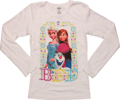 Frozen BFF Framed Long Sleeve Youth T-Shirt