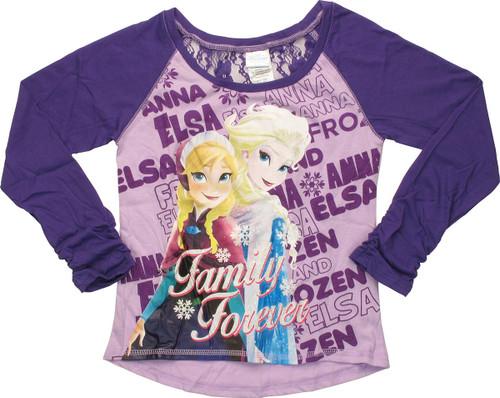Frozen Family Forever Raglan Youth T-Shirt