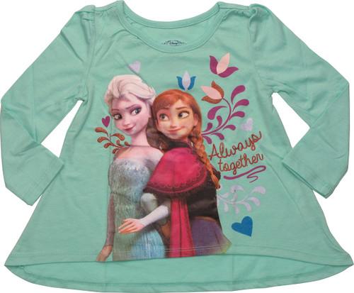 Frozen Together Flared Long Sleeve Toddler T-Shirt
