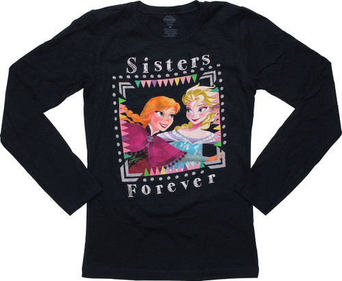 Frozen Sisters Forever Long Sleeve Youth T-Shirt