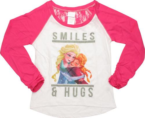 Frozen Smiles Hugs Raglan Youth T-Shirt