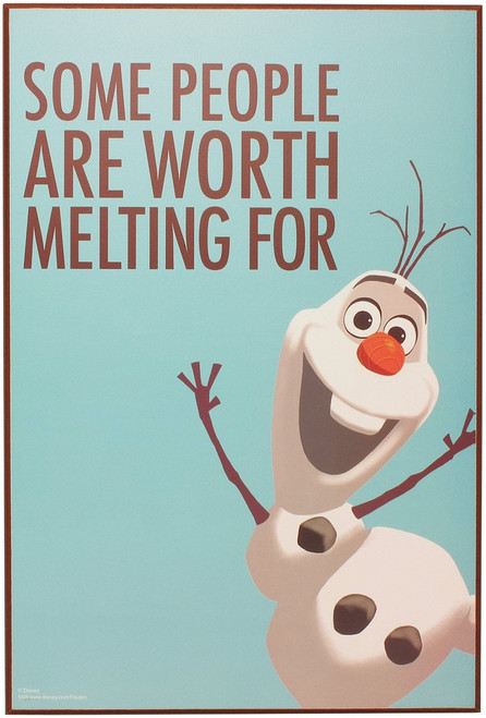 Frozen Olaf Worth Melting For Wall Art