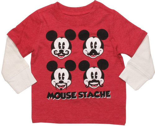 Mickey Mouse Staches Long Sleeve Infant T-Shirt