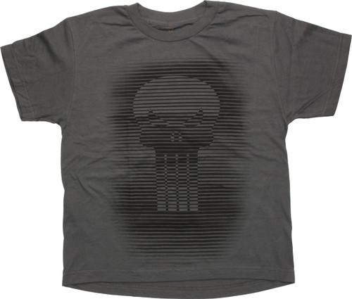 Punisher Lined Skull Logo Youth T-Shirt