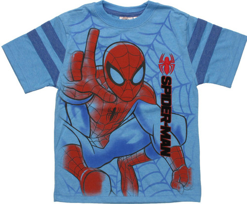 Spiderman Airbrushed Pounce Juvenile T-Shirt