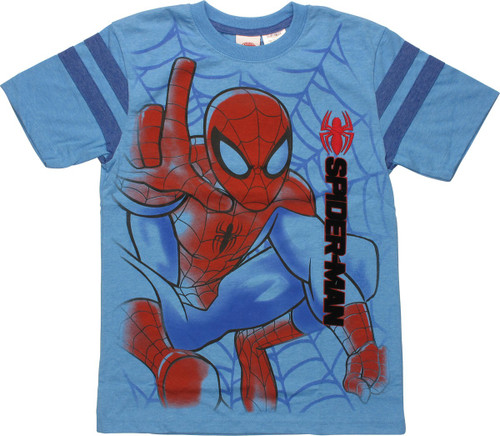 Spiderman Airbrushed Pounce Youth T-Shirt