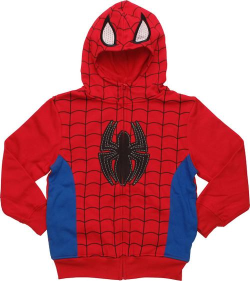 Spiderman Half Mask Juvenile Hoodie