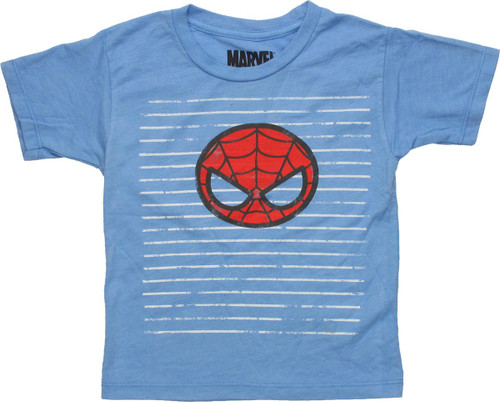 Spiderman Kawaii Mask Striped Toddler T-Shirt