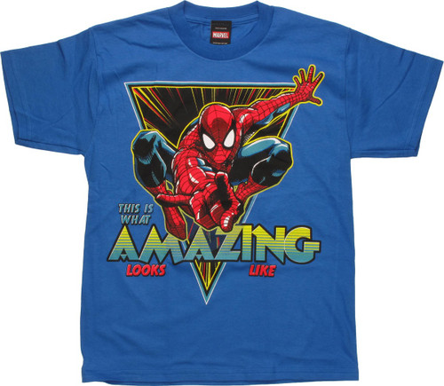 Spiderman What Amazing Looks Like Youth T-Shirt