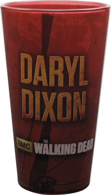Walking Dead Daryl Dixon Red Pint Glass