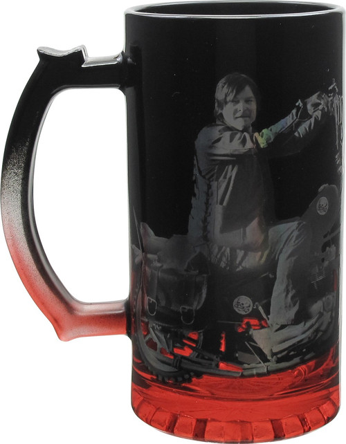Walking Dead Daryl Motorcycle Glass Mug