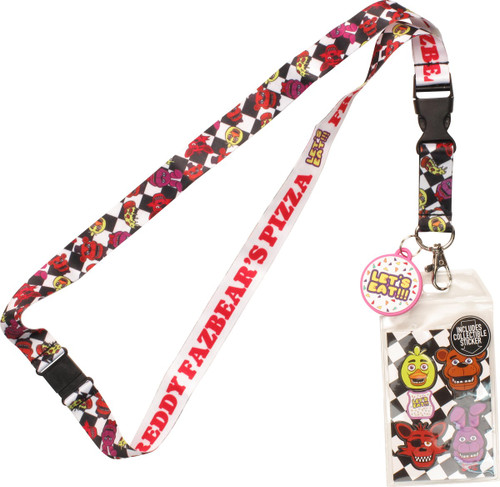 Five Nights at Freddy's Let's Eat Charm Lanyard