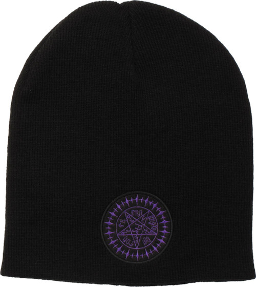 0719d0be133 Black Butler Purple Logo Slouch Beanie