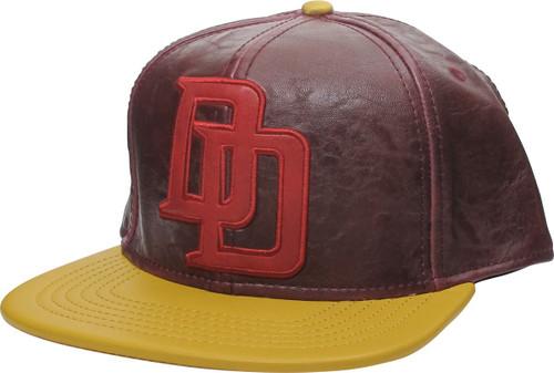 Daredevil DD Logo Faux Leather Snapback Hat