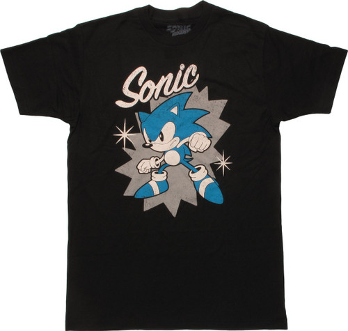 d63cfd1121f0 Sonic the Hedgehog Name Pose Stars T-Shirt t-shirt-sonic-hedgehog-star-blk