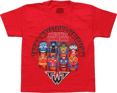 Thumb Wrestling Federation Win Juvenile T-Shirt