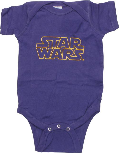Star Wars Name Purple Snap Suit