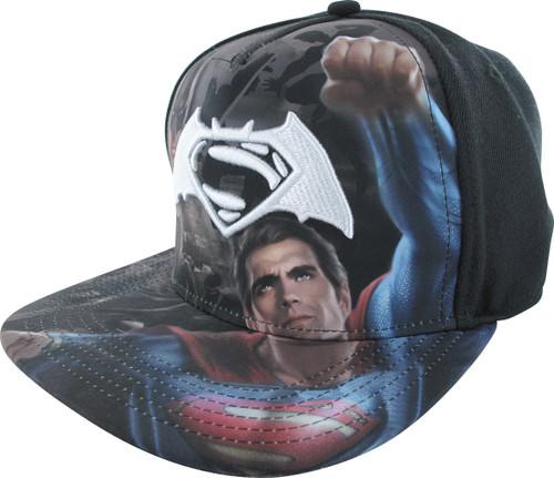 Batman v Superman White Logo Sublimated Hat