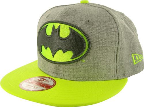 Batman Neon Logo Heather 9FIFTY Hat