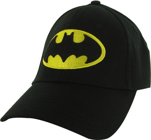 Batman Stitch Logo Stretch Hat