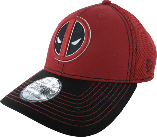 Deadpool Logo 2 Tone Mesh Back 39THIRTY Hat
