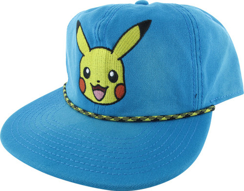 Pokemon Pikachu Face Washed Out Snapback Hat