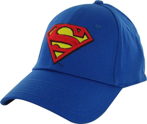 Superman Stitch Logo Stretch Hat