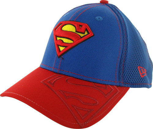 Superman Visor Logo Mesh Back 39THIRTY Hat