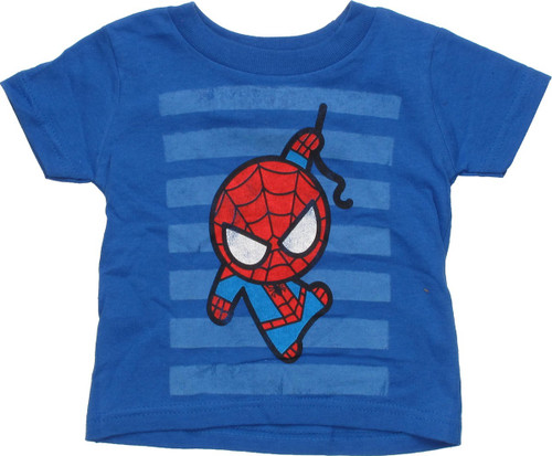 Spiderman Toy Striped Blue Infant T-Shirt